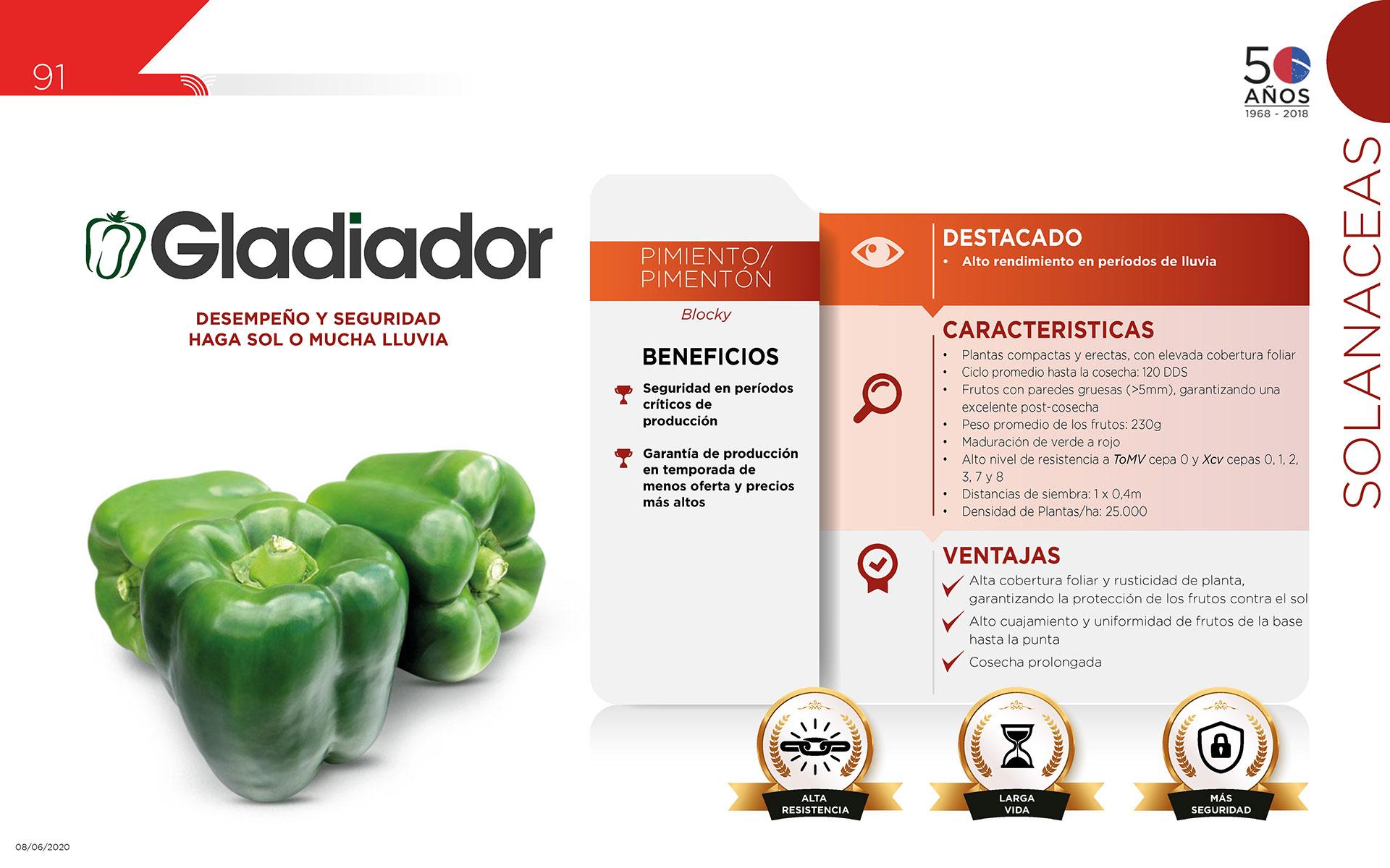 Gladiador - Solanaceas